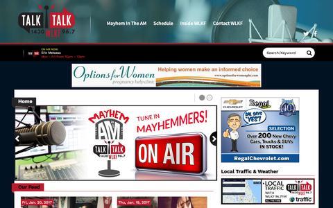 Screenshot of Home Page wlkf.com - Home | WLKF Talk 1430 AM & 96.7 FM | How Lakeland Spells Talk - captured Jan. 21, 2017