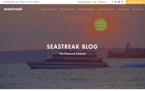Screenshot of Blog seastreak.com - The Seastreak Nautical Blog   Seastreak Ferries - captured Jan. 12, 2016