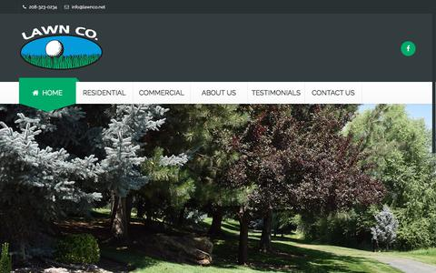 Screenshot of Home Page lawnco.net - Boise Landscape & Lawn Care | Lawn Co of Boise, Idaho - captured July 16, 2018