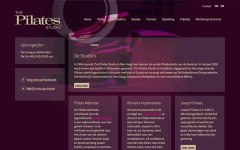 Screenshot of Home Page pilates.nl - Home - captured Oct. 9, 2014