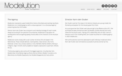 Screenshot of About Page modelution.com - Modelution Model Management | About our Model Agency - captured Oct. 6, 2014