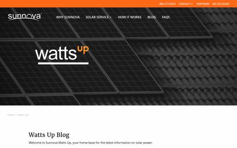 Watts Up | Sunnova Solar Energy