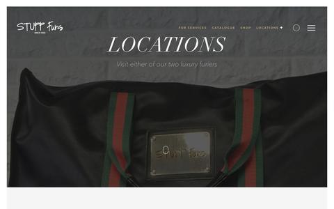 Screenshot of Locations Page stuppfurs.com - locations - Stupp Furs - captured Nov. 11, 2017