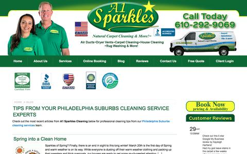 Screenshot of Blog a1sparkles.com - Our Carpet Cleaning Blog by A1 Sparkles' Cleaners - captured July 28, 2018