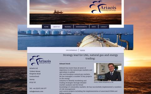 Screenshot of Team Page artaoisconsulting.com - Artaois Ltd.  Energy Market Experts for Strategic Solutions, - People - captured Nov. 21, 2016