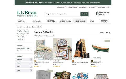 Games & Books | Home Goods at L.L.Bean