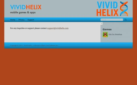 Screenshot of Support Page vividhelix.com - Vivid Helix - captured Oct. 7, 2014