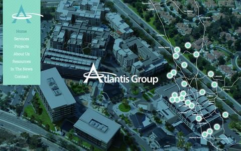 Screenshot of Home Page atlantissd.com - Atlantis Group | Land Use Planning Experts - captured Dec. 18, 2018
