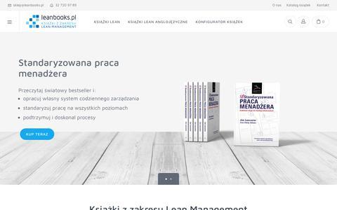 Screenshot of Home Page leanbooks.pl - książki i podręczniki lean - Leanbooks.pl - captured Oct. 25, 2018