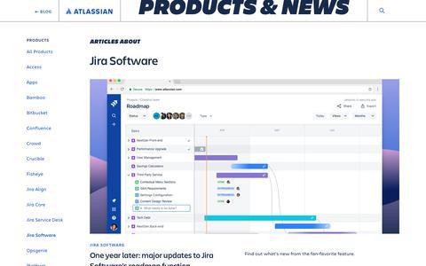 Screenshot of Blog atlassian.com - Jira Software - Atlassian Blog - captured Feb. 8, 2020