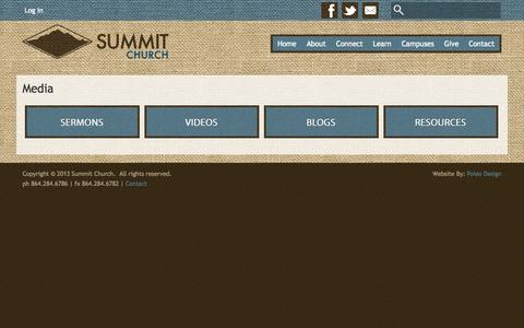 Screenshot of Press Page summitupstate.org - Media | Summit Church - captured Oct. 6, 2014