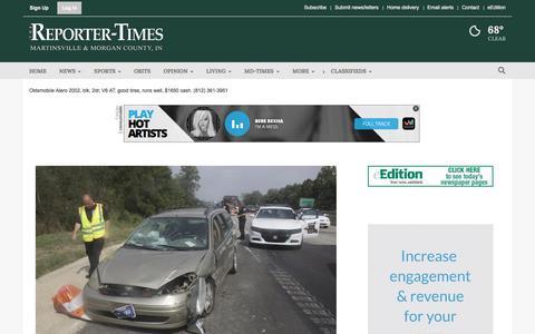 Screenshot of Home Page reporter-times.com - reporter-times.com - captured Sept. 22, 2018