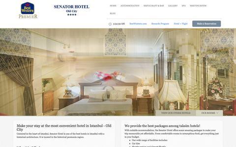 Screenshot of Home Page senatorhotel.com - Best Western Senator Holiday Hotel in Istanbul, Turkey Senator Hotel - captured Jan. 24, 2015
