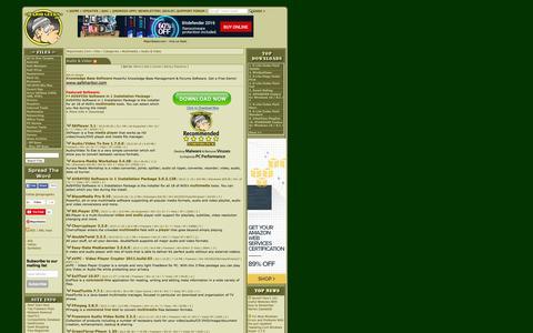 Screenshot of Press Page majorgeeks.com - Download Audio & Video Tools for Windows - MajorGeeks - captured Dec. 3, 2015