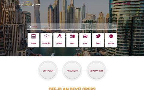 Screenshot of Developers Page myuaeguide.com - Developers - myUAEguide.com - captured Oct. 19, 2018