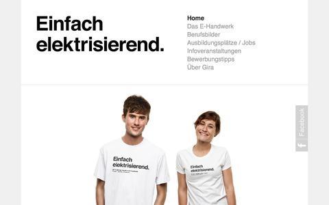 Screenshot of Home Page einfach-elektrisierend.de - Einfach elektrisierend - captured Aug. 28, 2015