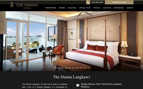 Screenshot of Home Page thedanna.com - Langkawi Hotels | The Danna Langkawi | Hotels in Langkawi - captured Jan. 14, 2016