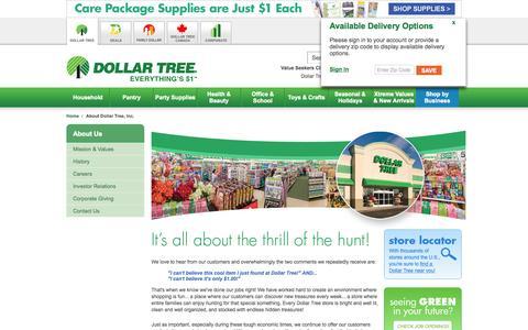 Dollar Tree, Inc.: About Dollar Tree, Inc.