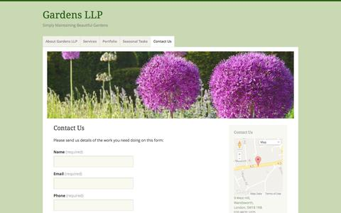 Screenshot of Contact Page gardensllp.co.uk - Contact Us | Gardens LLP - captured Sept. 30, 2014