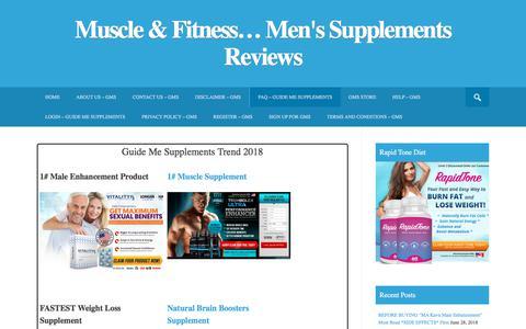 Screenshot of FAQ Page guidemesupplements.com - FAQ - Guide Me Supplements - captured June 28, 2018