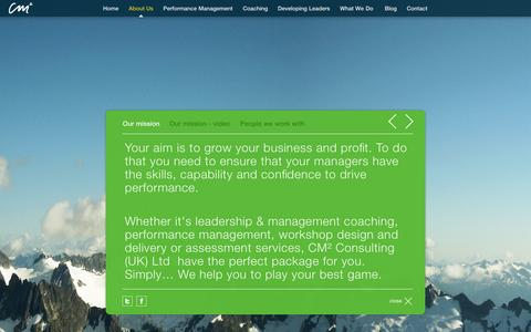 Screenshot of About Page cm2c.com - About Us - captured Oct. 1, 2014