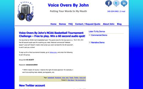 Screenshot of Blog voiceoversbyjohn.com - Blog | Voice Overs By John - captured Oct. 9, 2014