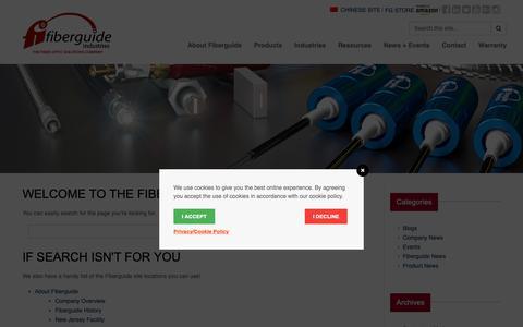 Screenshot of Site Map Page fiberguide.com - Fiberguide Industries » Site Map - captured Oct. 10, 2018