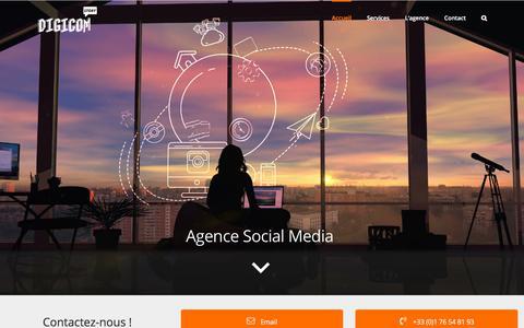 Screenshot of Home Page digicomstory.com - Digicomstory - Agence Social Media - captured Aug. 6, 2018