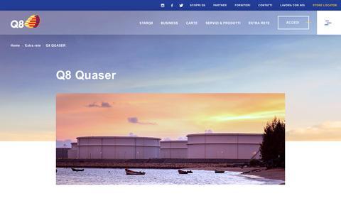 Screenshot of About Page q8.it - Q8 - Q8 Quaser - captured Nov. 8, 2018