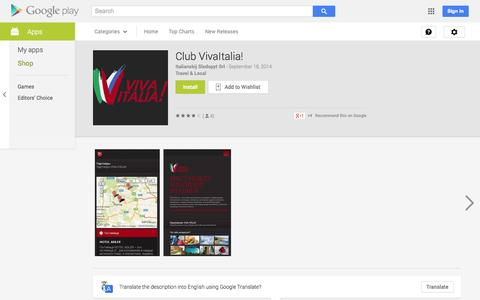 Screenshot of Android App Page google.com - Club VivaItalia! - Android Apps on Google Play - captured Oct. 26, 2014
