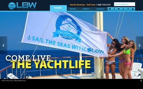 Screenshot of Home Page lbwtravel.com - LBWTravel - Home - captured Jan. 29, 2016