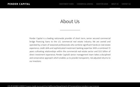 Screenshot of About Page pendercapital.com - About Us | Pender Capital - captured Dec. 26, 2016