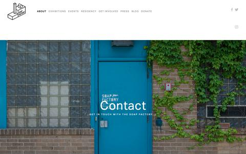 Screenshot of Contact Page soapfactory.org - Contact — Soap Factory - captured Oct. 18, 2018