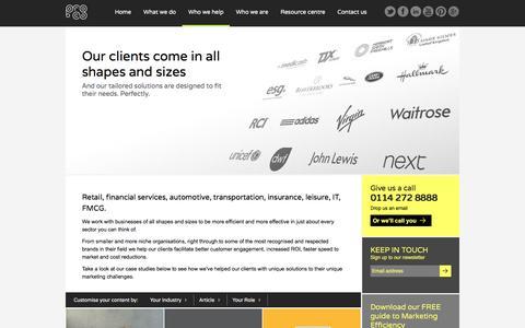 Screenshot of Case Studies Page proco.com - Who we help | ProCo - captured Dec. 12, 2015