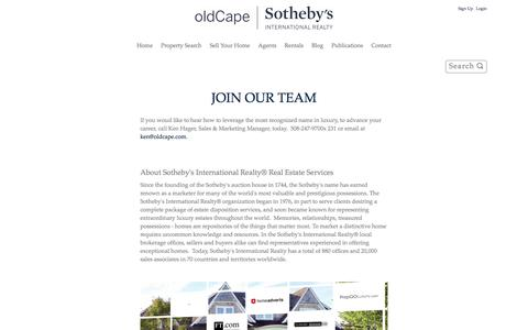 Screenshot of Signup Page oldcape.com - oldCape Sotheby's International Realty - captured Oct. 19, 2017