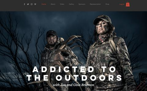 Screenshot of Home Page addictedtotheoutdoors.com - Addicted to the Outdoors - captured Oct. 3, 2018