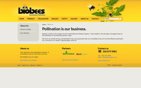 Screenshot of About Page biobees.co.nz - Biobees - About Us - captured Oct. 5, 2014