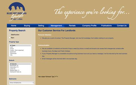 Screenshot of Support Page ralawrence.com.au - RA Lawrence Real Estate  Leura, Blue Mountains - captured Sept. 24, 2018