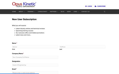 Screenshot of Signup Page opuskinetic.com - Sign Up | Opus Kinetic - captured Oct. 18, 2018