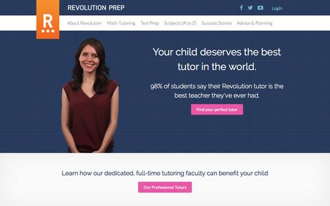 Private Tutoring, Test Prep & Math Tutoring | Revolution Prep