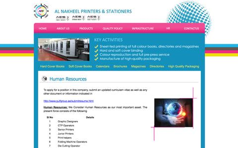 Screenshot of Jobs Page anps.ae - Al Nakheel Printers & Stationers. Ras Al Khaimah, United Arab Emirates - captured Feb. 5, 2016
