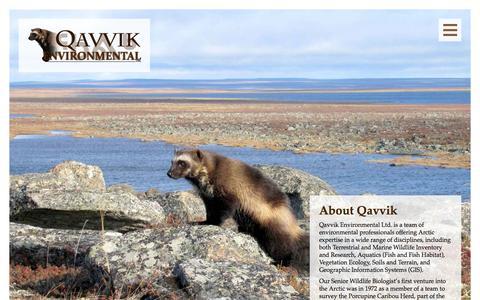 Screenshot of About Page qavvik.com - About Qavvik   Qavvik Environmental Ltd - captured Oct. 2, 2014