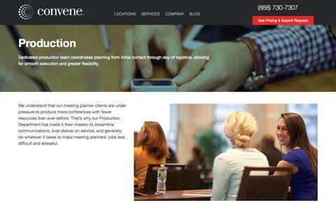 Screenshot of Services Page convene.com - Production | Convene - captured Nov. 2, 2014