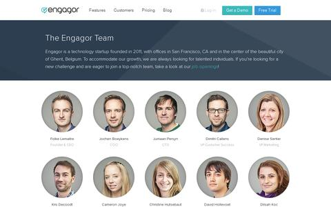 Screenshot of Team Page engagor.com - Team | Engagor - captured July 20, 2014