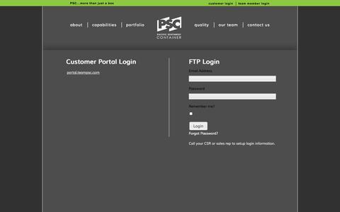 Screenshot of Login Page teampsc.com - Log in - captured Oct. 1, 2014