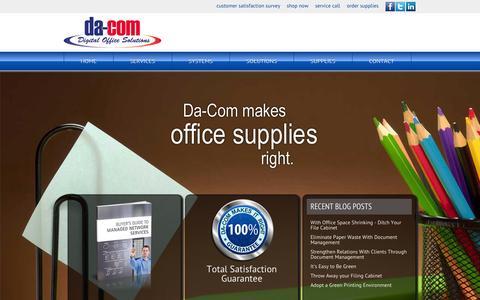 Screenshot of Home Page da-com.com - Da-Com | Makes IT Right - captured Oct. 5, 2014