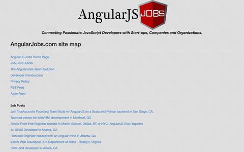 Screenshot of Site Map Page angularjobs.com - AngularJS Developer Talent Recruitment Solutions | AngularJobs.com - captured Sept. 25, 2014