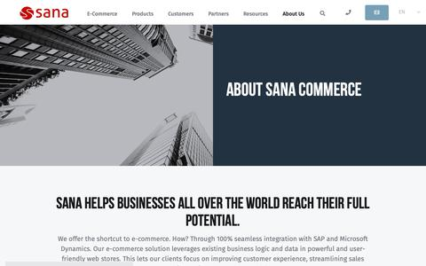 Screenshot of About Page sana-commerce.com - About us | Sana Commerce | E-Commerce Software - captured Jan. 7, 2019