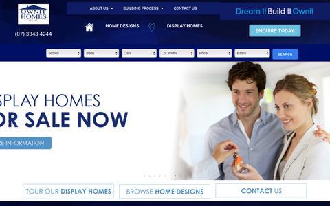 Screenshot of Home Page ownithomes.com.au - Ownit Homes | Home Builder Brisbane | House Builder Brisbane - captured Sept. 20, 2018