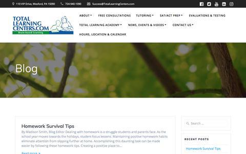Screenshot of Blog totallearningcenter.com - Blog | Total Learning Centers - captured Nov. 14, 2019